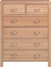 Vale Furnishers - Truro Four and Two Drawer Chest